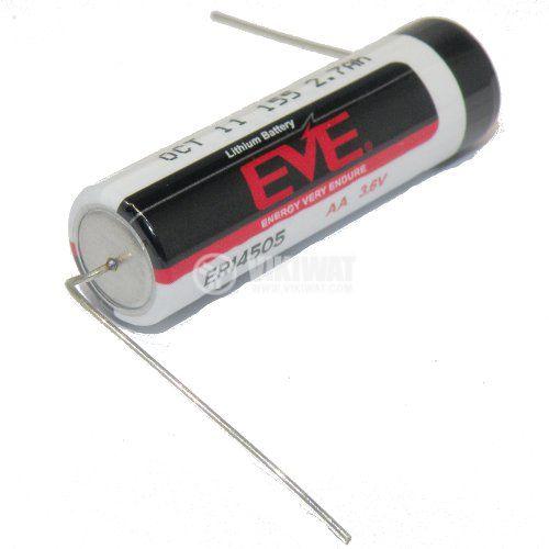 Батерия ER14505, AA, 3.6VDC, 2700 mA аксиални изводи