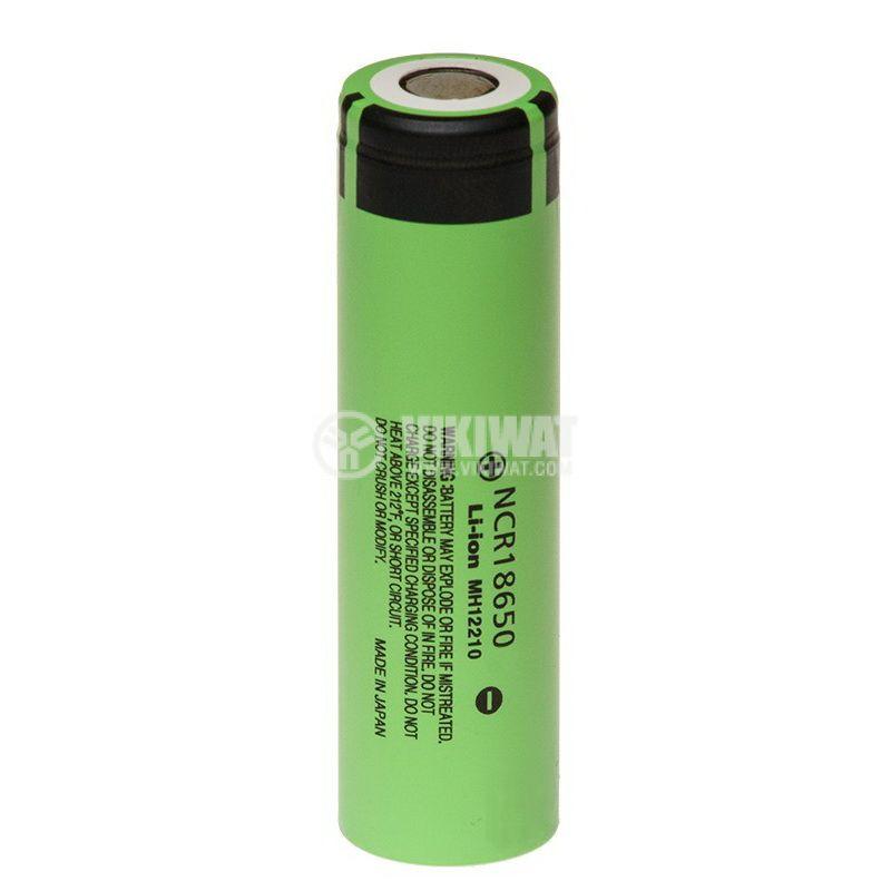 Акумулаторна батерия MR18650, 3.6V, 2900mAh, Panasonic