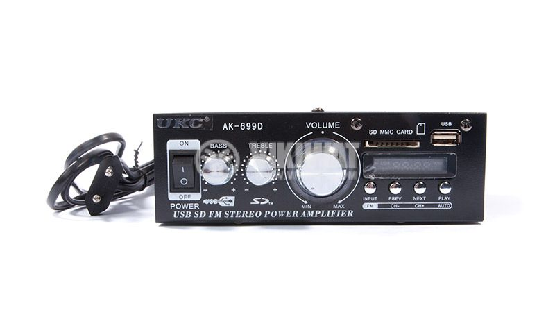 Amplifier UKC AK-699D, 300+300W, USB port, SD slot, FM tuner - 2