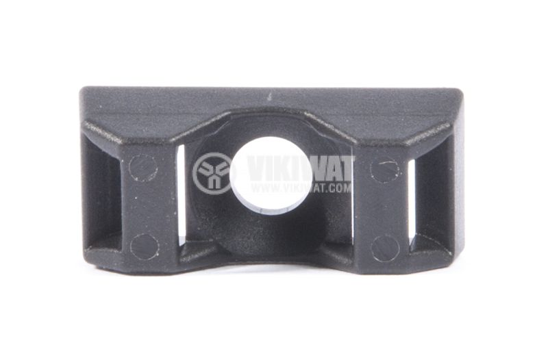Cable Tie Mount CTQM5-PA66-BK, screw fixing  - 1