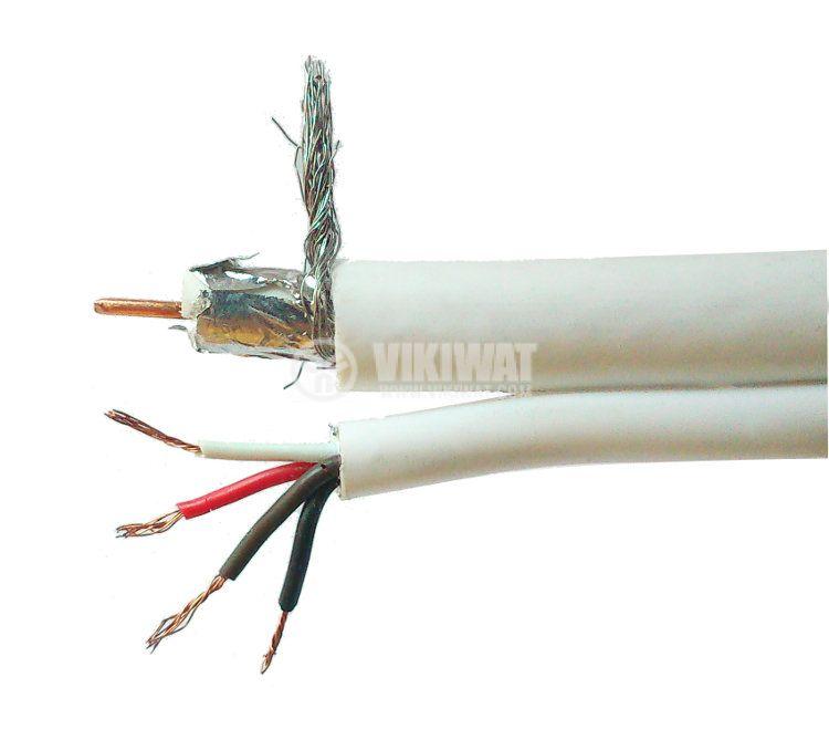 Коаксиален кабел CC1020 плюс 4 захранващи
