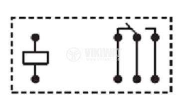Electromagnetic Relay JQX115F 1Z3, 250VAC/16A, 2NO+2NC, 110VAC - 2