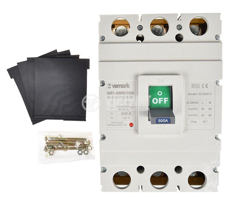 Автоматичен прекъсвач, AM1-630M/3300, 3P, 500 А, 400 VAC - 2