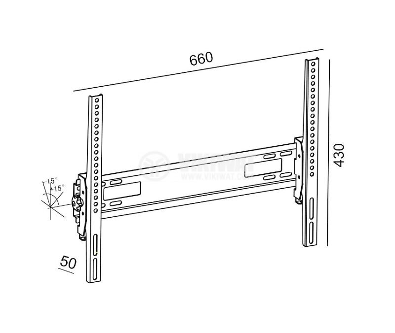 TV Wall Mount Stand 1TV-230, 32~65inch, tilt +/-15° - 2