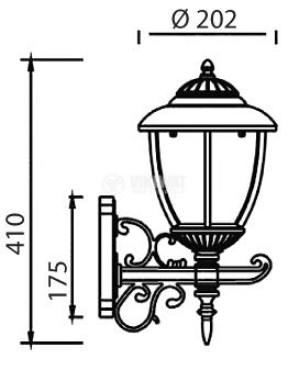 Garden lighting fixture Pacific CS 04, E27, hanging - 2