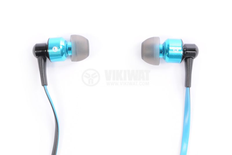 Headphones Ovleng S8, Bluetooth, plugs, 102db, blue - 2