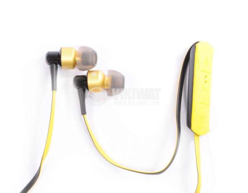 Headphones Ovleng S8, Bluetooth, plugs, 102db, yellow - 1
