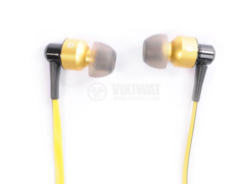 Headphones Ovleng S8, Bluetooth, plugs, 102db, yellow - 2