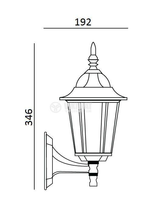 Градинска лампа Pacific Small 01, Е27, стенна кована мед