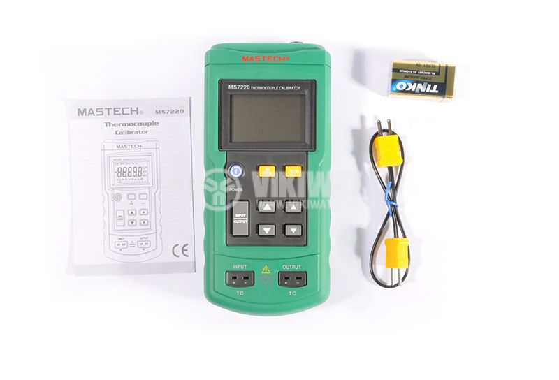 Thermocouple Calibrator MS7220, TC type J, K, T, E, R, S, B, N, -200˚C to +1800˚C - 6