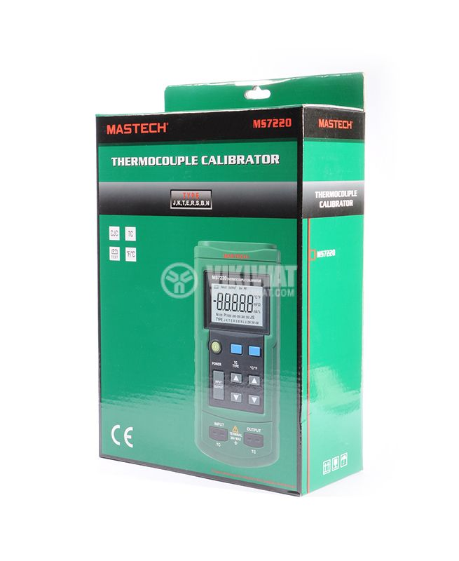 Thermocouple Calibrator MS7220, TC type J, K, T, E, R, S, B, N, -200˚C to +1800˚C - 9