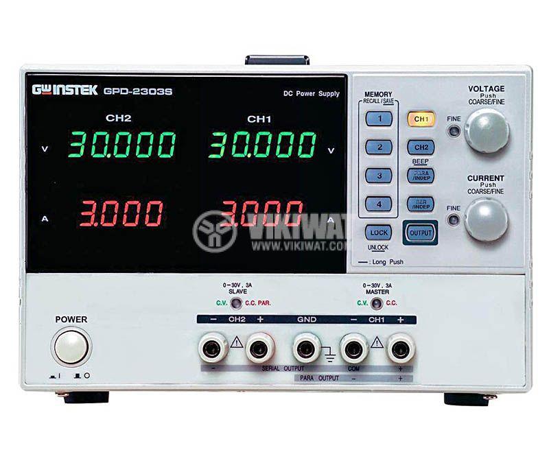 DC линеен програмируем лабораторен захранващ блок GPD-2303S, 3 A, до 30 V, 2 канала