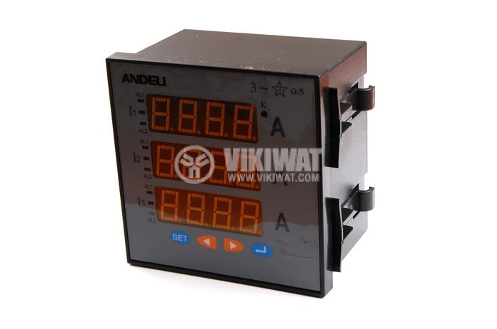 Three-phase digital ammeter, АМ96-3А, 3x100 A, AC, current transformer operated 100/5 А