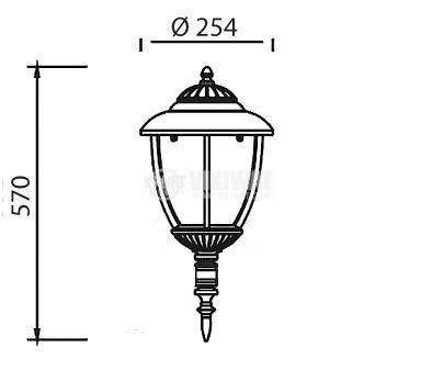Pacific Big 04, E27 garden lamp, hanging, white - 1