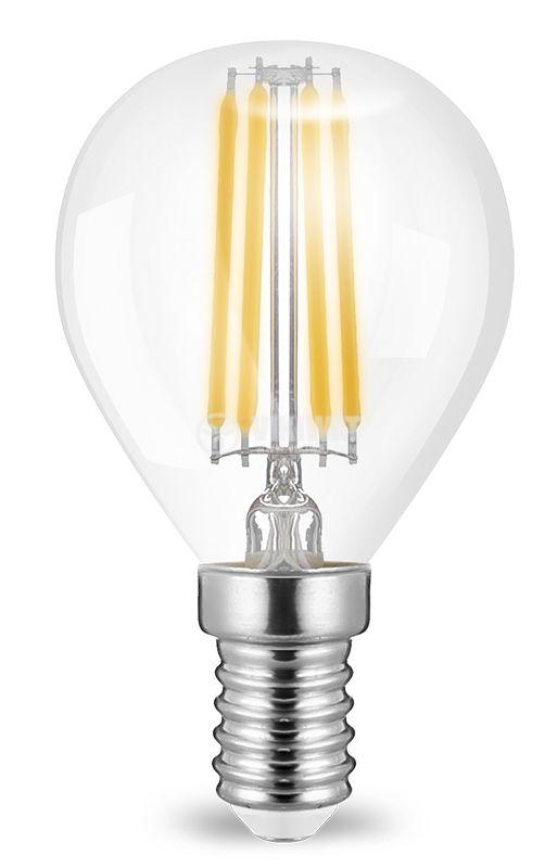 LED лампа FIlament 4W, E14, 220VAC, 400lm, 2700K, топлобяла, P45, BA37-00410 - 2