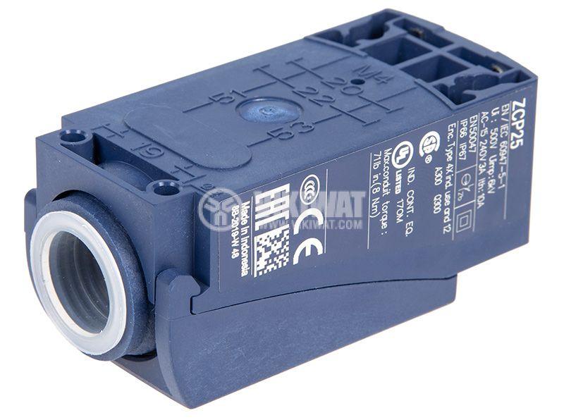 Краен изключвател, XCKP2510P16, NO+NC, 240VAC / 250VDC, 10A, щифт - 3