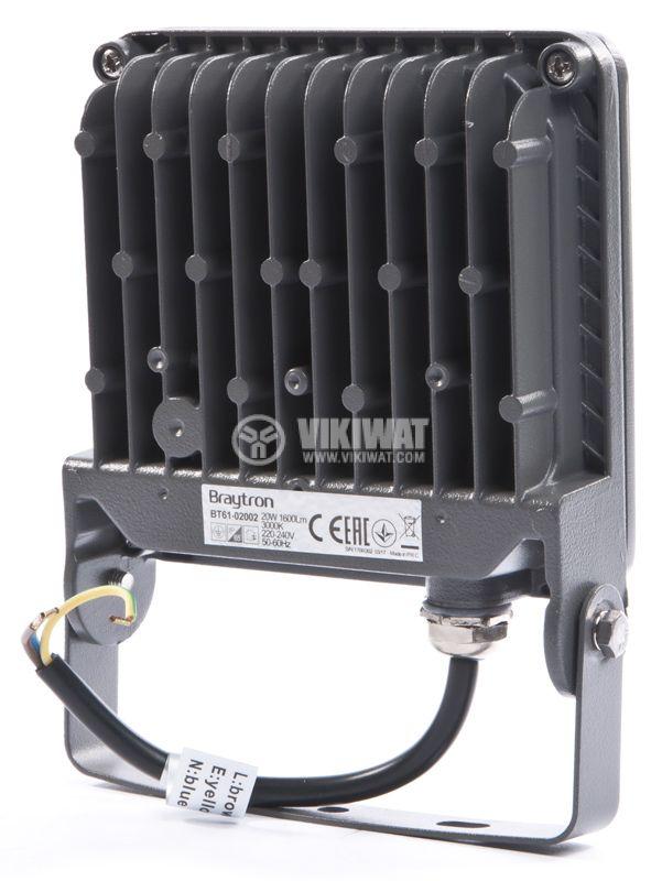 LED прожектор, 20W, 220V-240V, IP65, топлобял - 2
