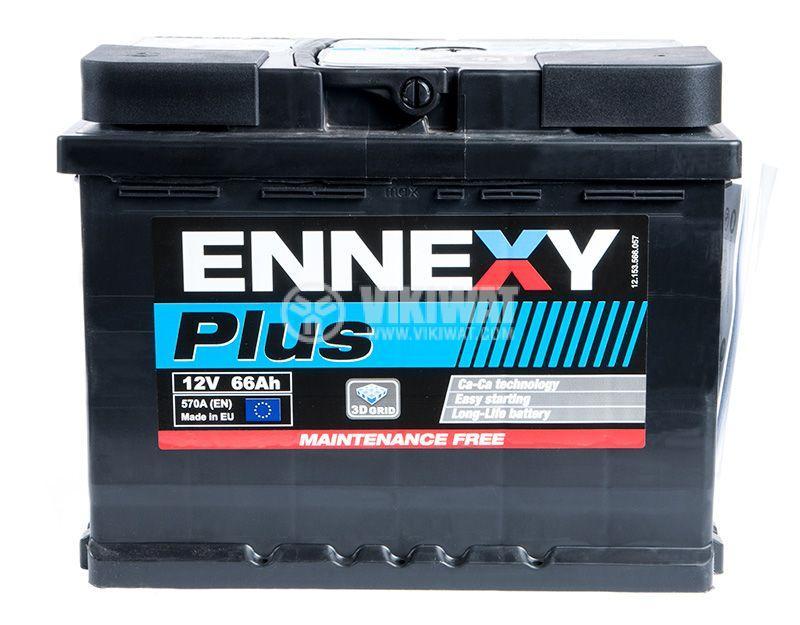 Car battery, 66Ah, starter, 12VDC, ENNEXY Plus - 2