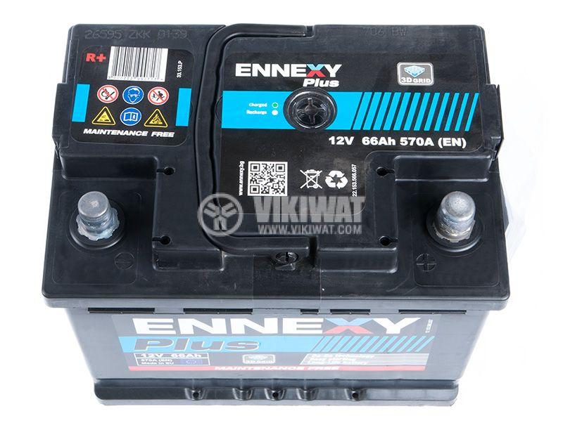 Car battery, 66Ah, starter, 12VDC, ENNEXY Plus - 3