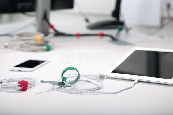 Cable tie TEXTIE S-PA66 / PP-BK, 150mm, black, elastic, reusable - 2
