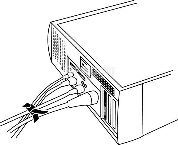 Кабелна превръзка TEXTIE S-PA66/PP-BK, 150mm, черна, еластична, за многократна употреба - 4