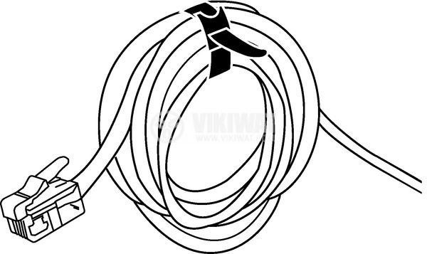 Cable tie TEXTIE S-PA66 / PP-BK, 150mm, black, elastic, reusable - 5