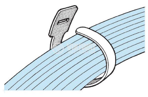 Cable tie TEXTIE S-PA66 / PP-BK, 150mm, black, elastic, reusable - 6