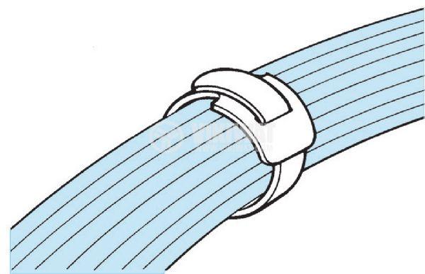 Cable tie TEXTIE S-PA66 / PP-BK, 150mm, black, elastic, reusable - 8