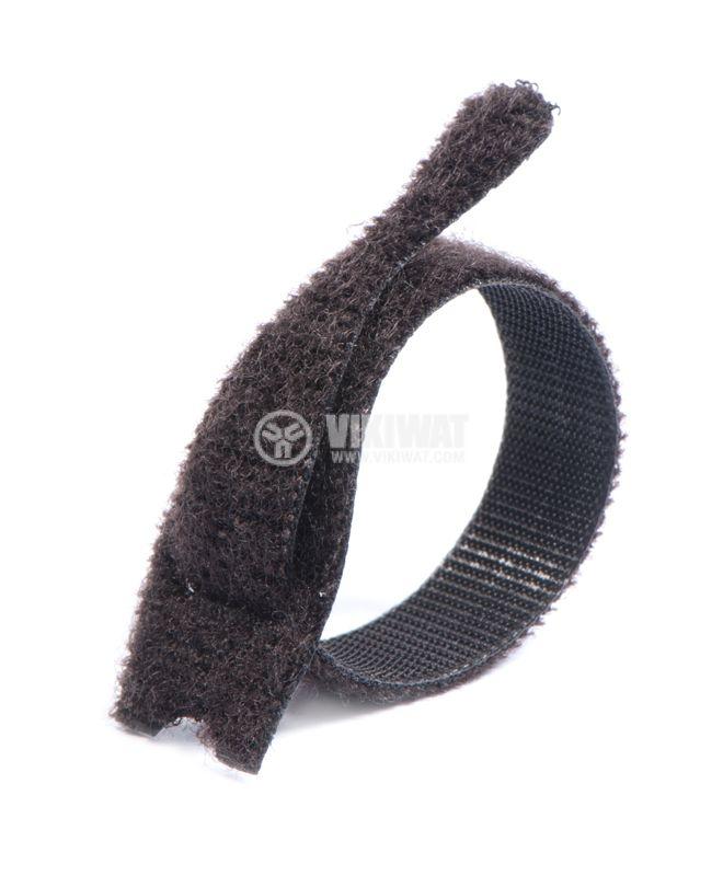 Cable tie TEXTIE S-PA66 / PP-BK, 150mm, black, elastic, reusable - 12