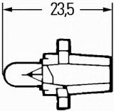Автомобилна лампа с PVC цокъл, нажежаема жичка, B8.7d, 12V, 1.2W - 2