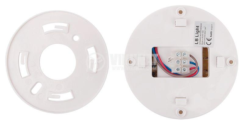 PIR шалтер BL401 360, 220VAC, 1200/300/100W, 120-360°, 6m - 5