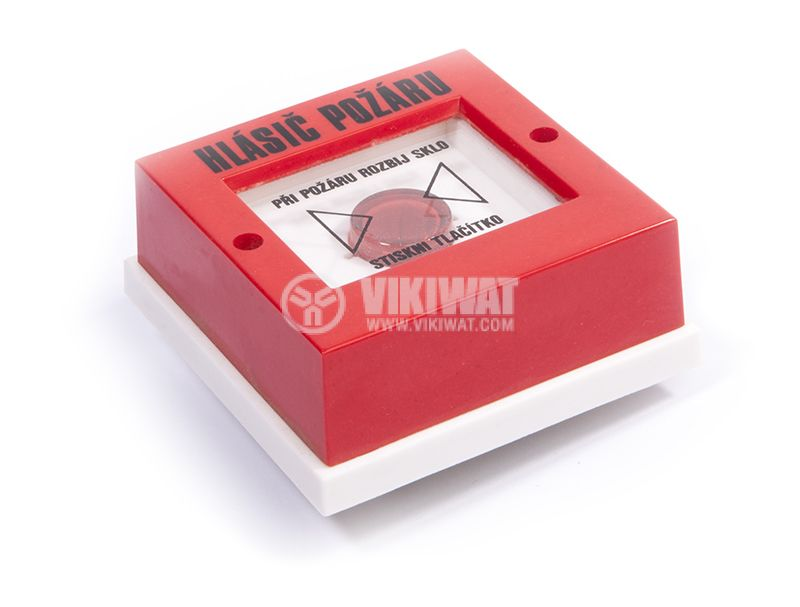 Fire alarm button, 82x82x34 - 2