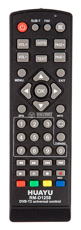 Remote controller RM-D1258 for universal receivers - 1