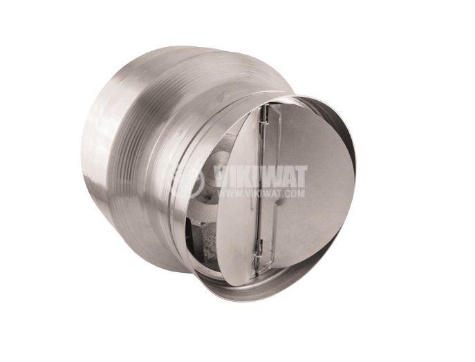 Вентилатор, канален, BOK135/100, Ф100 mm, 220 VAC, 42 W, 205 m3/h, с предпазна клапа