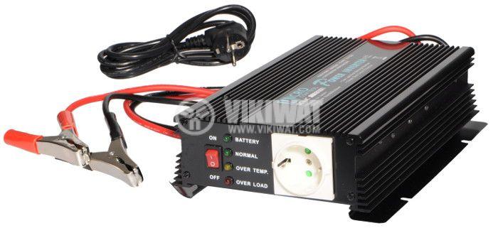 Инвертор със зарядно, UPS устройство, A601-1700-12, 12VDC - 220VAC, 1700W, модифицирана синусоида - 1