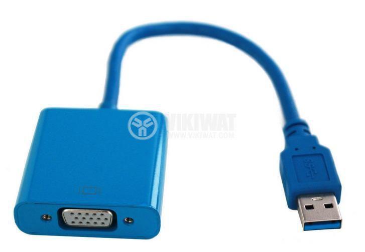 Adapter USB 3.0/m - VGA/f, 0.1m