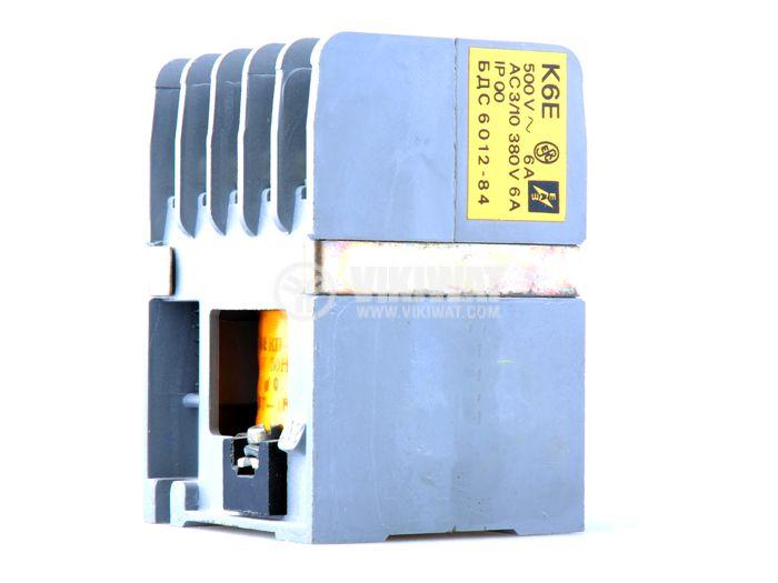 Contactor, three-phase, coil 380VAC, 5PST - 4NO+1NC, 6A, К6E - 1