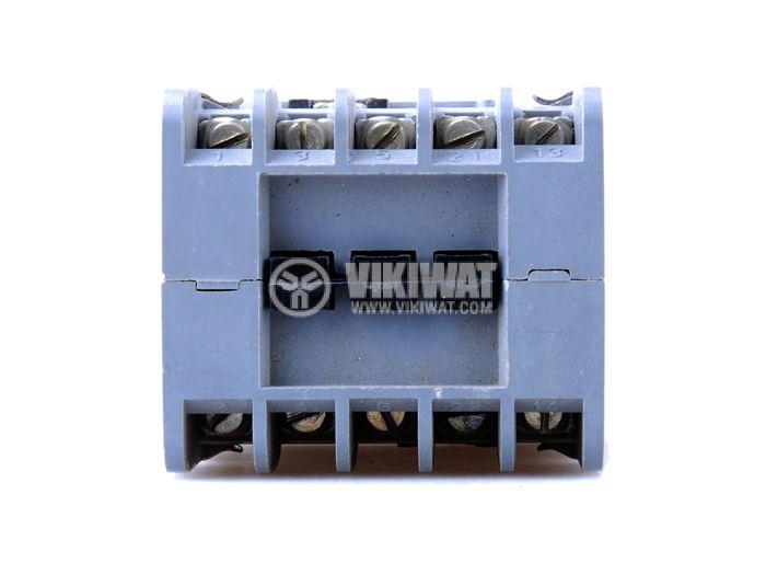 Contactor, three-phase, coil 380VAC, 5PST - 4NO+1NC, 6A, К6E - 2