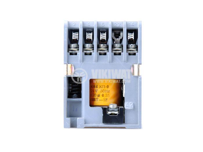 Contactor, three-phase, coil 380VAC, 5PST - 4NO+1NC, 6A, К6E - 3