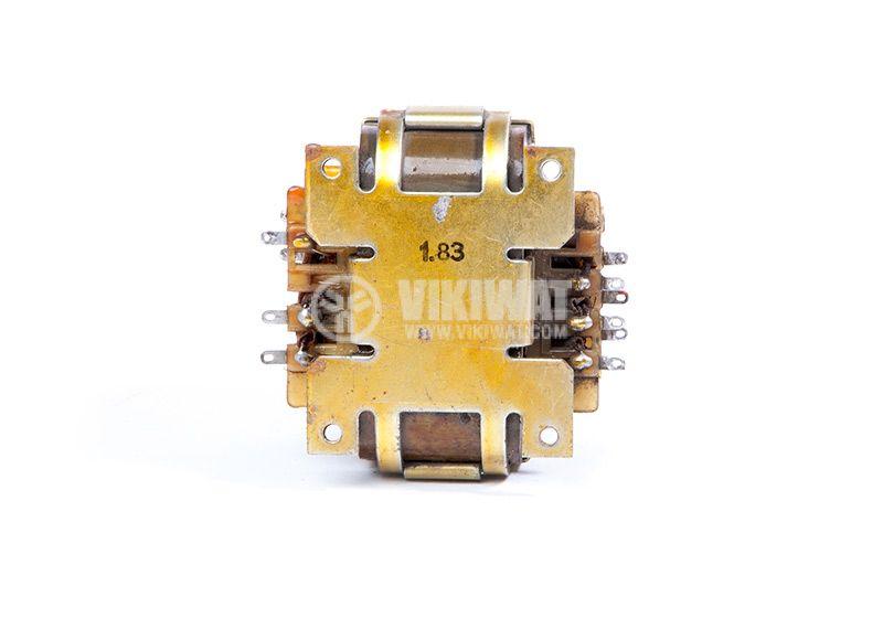 Автотрансформатор, екраниран, 220VAC / 2x18.7 + 35.8 + 34.5 + 2.2VAC, 60VA UNITRA B-4247-174-4 - 3