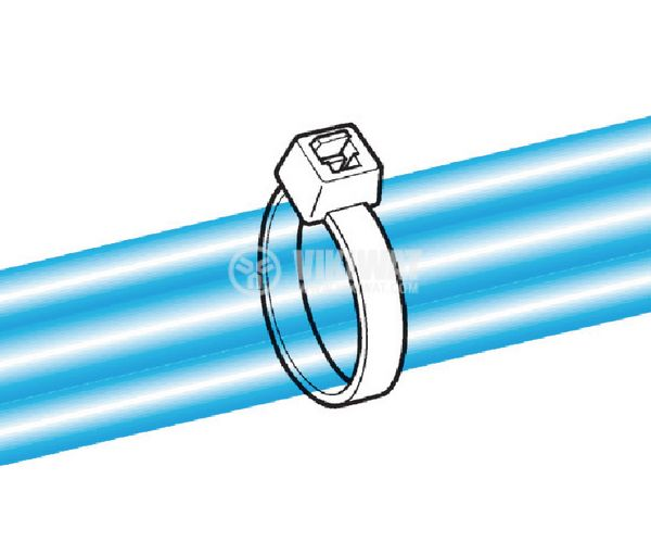 Кабелна превръзка T120RE-PA66W-BK, 390mm, черна, UV-защитена - 3