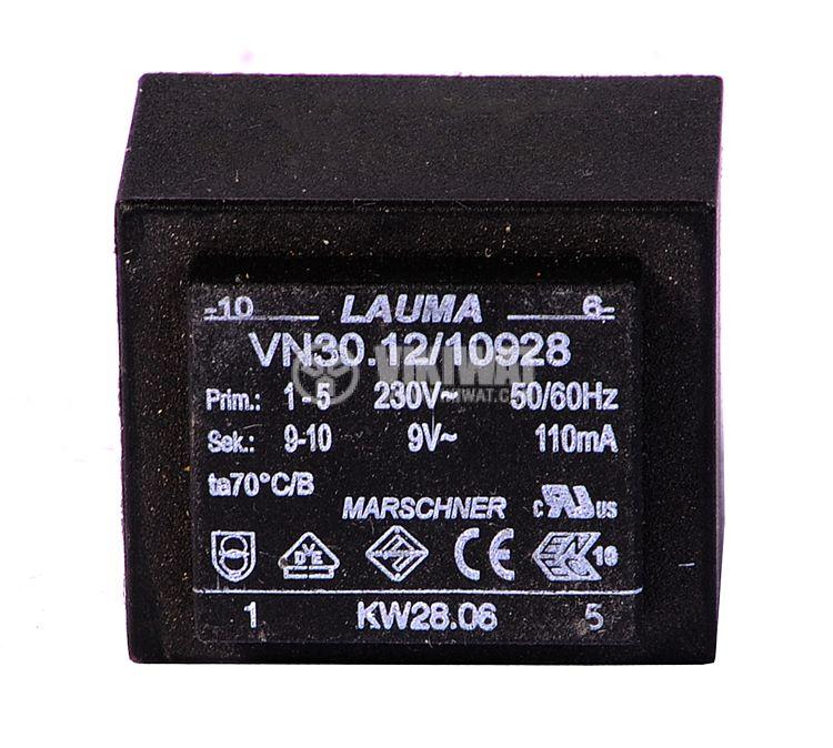 Трансформатор за печатен монтаж 230 / 9 VAC, 110 mA - 1