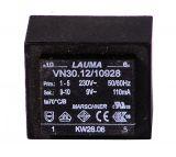 Трансформатор за печатен монтаж 230 / 9 VAC, 110 mA