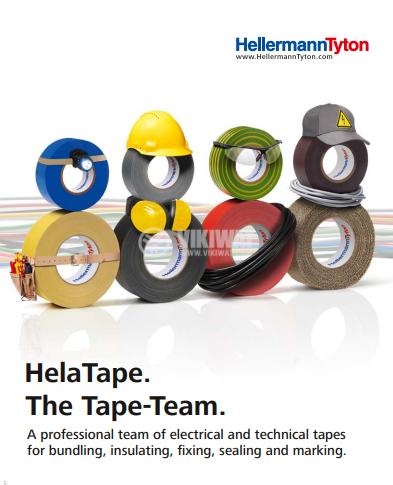 PVC изолационна лента, изолирбанд, HELATAPE FLEX 15, ширина 25mm x дължина 25m, черна - 2