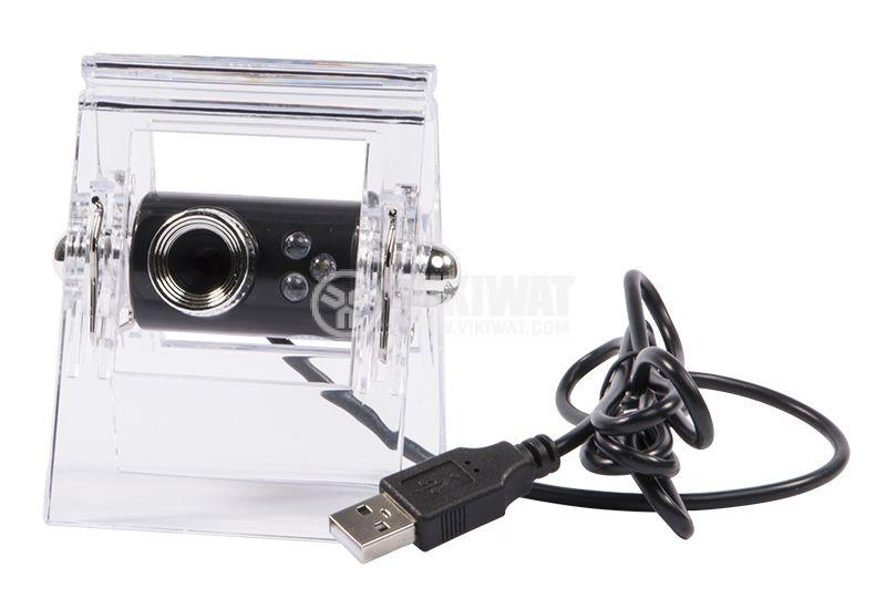 Камера за компютър , 1.3M, USB, LED осветление с щипка - 1