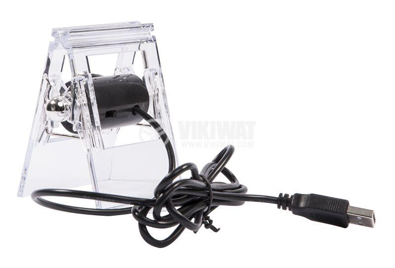 Камера за компютър , 1.3M, USB, LED осветление с щипка - 3