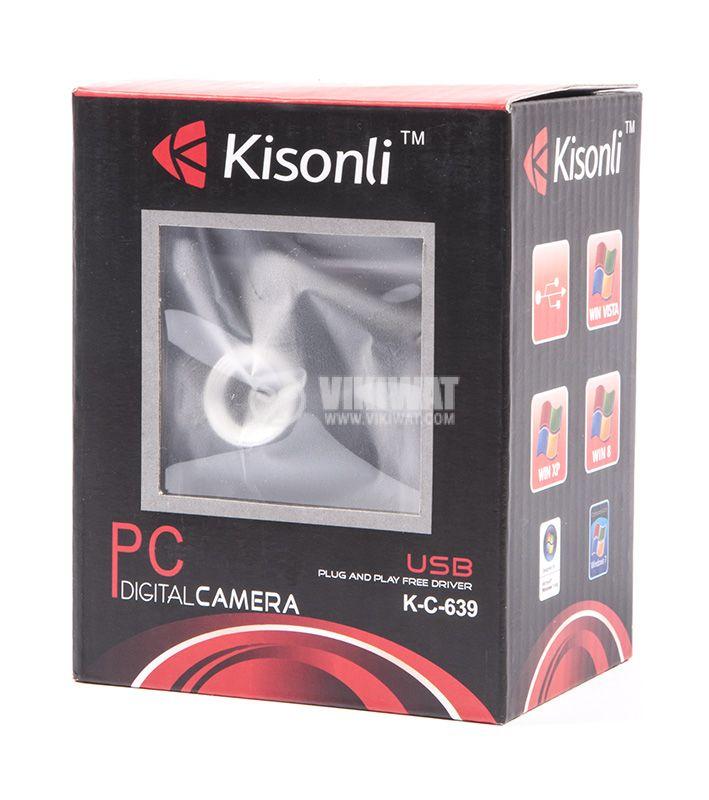Камера за компютър , 1.3M, USB, LED осветление с щипка - 4