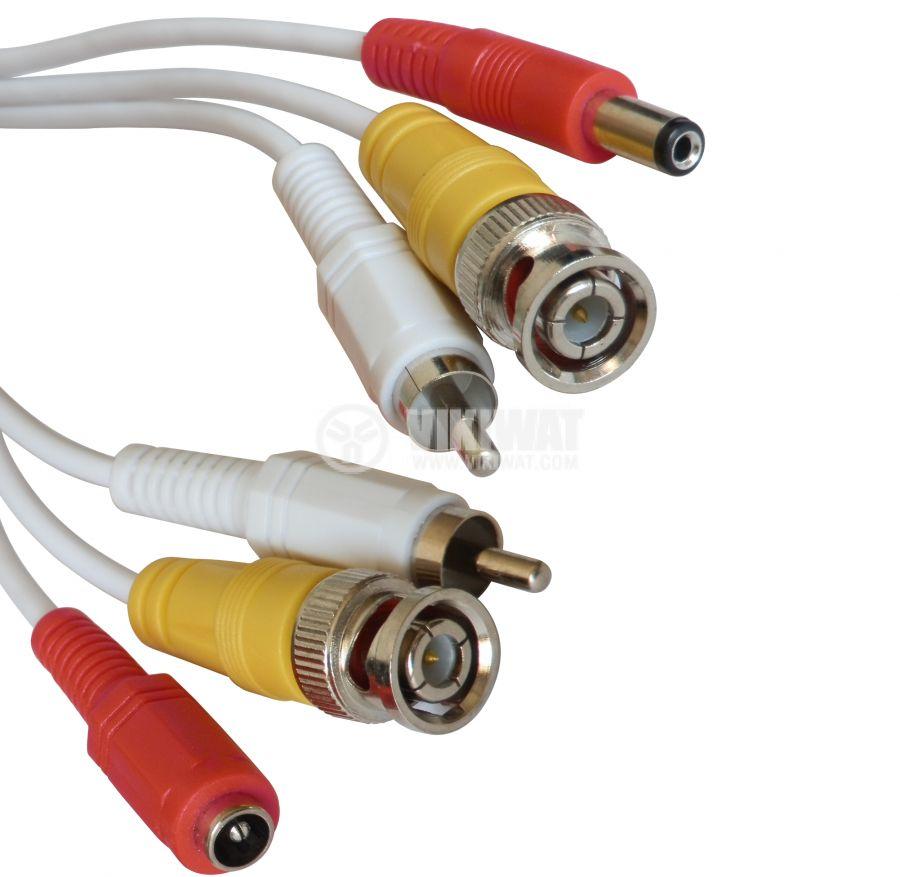 Camera cable, BNC + RCA + AMP, 30m
