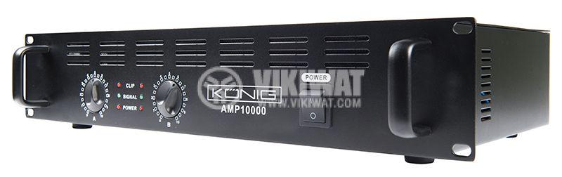 Професионален усилвател PA-AMP10000-KN, 2x500W, 2x250W - 5