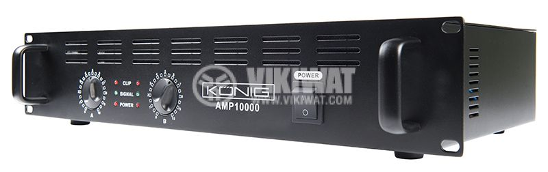 Professional Amplifier PA-AMP10000-KN, 2x500W, 2x250W - 5